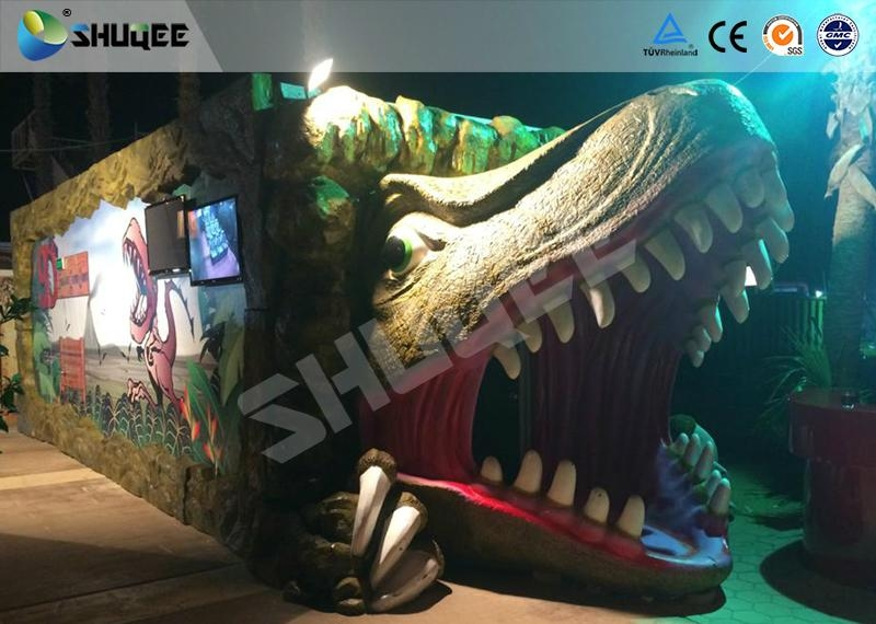 Vivid Green Dinosaur 5D Movie Theater Nine Seats With Luxury Chairs 3