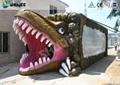 Vivid Green Dinosaur 5D Movie Theater Nine Seats With Luxury Chairs 5