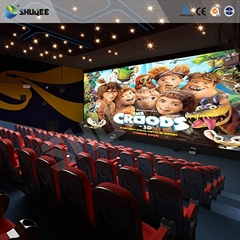 Factory Price 3D 4D 5D 7D movie cinema with high quality comfortable chairs