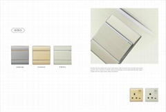 UK style aluminium panel electric wall switch and socket