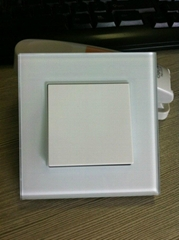 toughened glass panel wall switch and socket