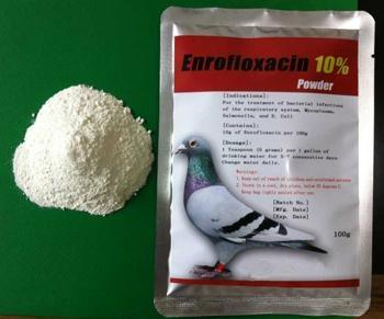 Pigeon Racing Medicine 10% Enrofloxacin Powder Treating Diarrhea 1