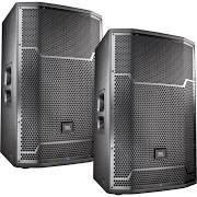 JBL PRX715 Powered PA Speaker Pair Bundle