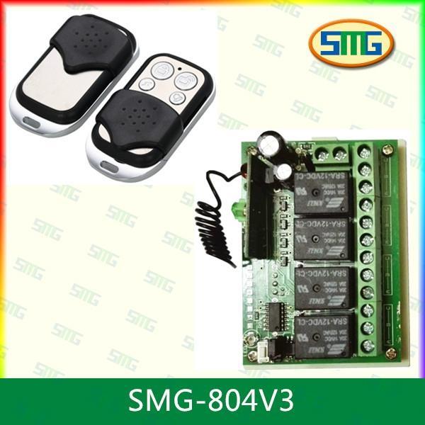 12v 24v 4 button long range Wireless rf remote control switch SMG-804  1