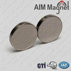 Nickel Coating Disc Neodymium Ndfeb Magnet 10x2mm