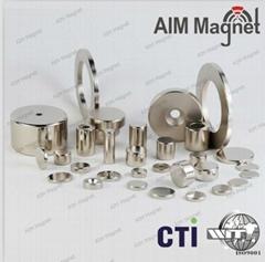 Industrial magnet ndfeb magnet Round Shape Rod Disc Magnet Neodymium