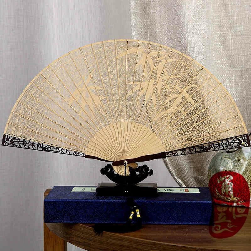 [professional] pure craft to create exquisite folding wooden fan (welcome to buy 1