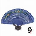 [professional] pure craft to create exquisite folding wooden fan (welcome to buy 5