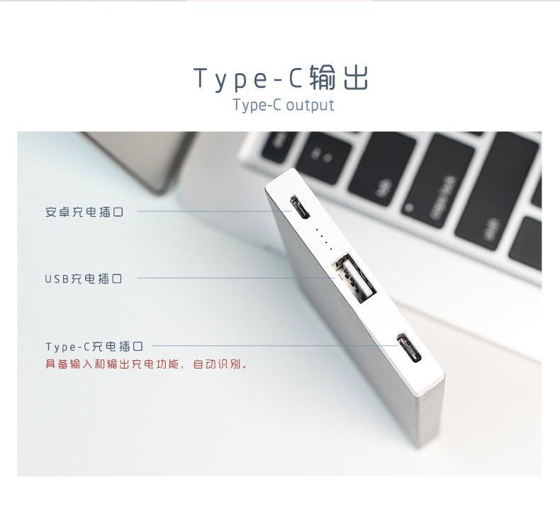 德立华TYPE-C移动电源
