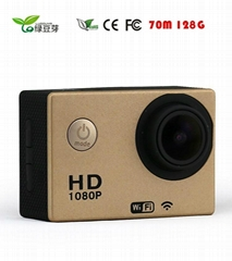 Full HD 1080P action camera (installed on bicycle, helmet, shotgun, arm ect.) W9