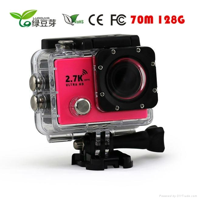 Waterproof 2.7K 1080P Sports Action Camera for Outdoor Sports 1