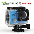 Waterproof 2.7K 1080P Sports Action Camera for Outdoor Sports 2