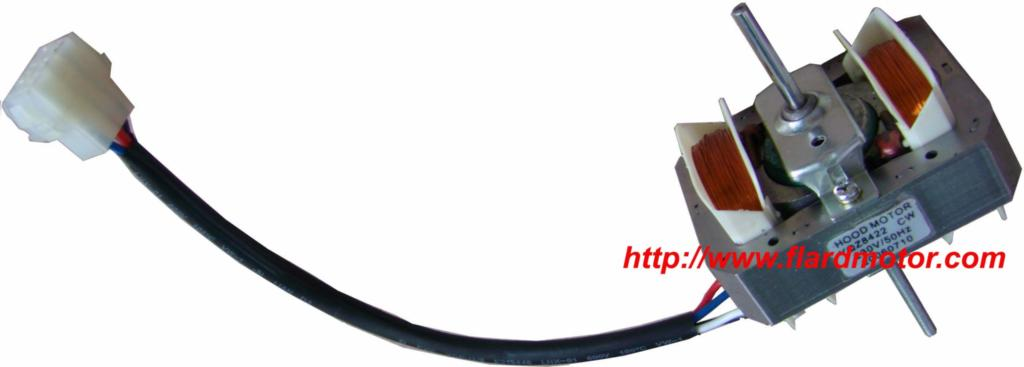 50 / 60 Hz Frequency 110v 220v Shaded Pole 68*84 Hood motor with connector 2