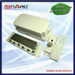 Press switch for cooker hood