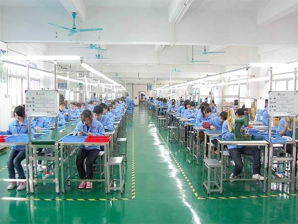 corner of electronics products workshop