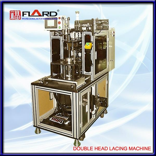double head lacing machine