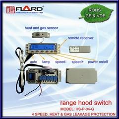 4 speed Press switch with gas & heat sensor
