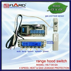 4 speed Touch switch with gas & heat sensor