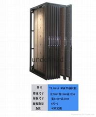 抽拉式雙面瓷磚展示櫃