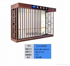 斜抽拉墙面砖展示柜