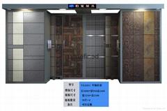 組合式雙向抽拉地板磚展示櫃