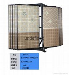蝴蝶型瓷砖展示柜