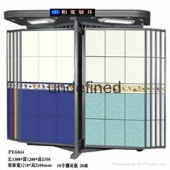 蝴蝶型瓷磚展示櫃