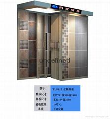 單面抽拉式牆磚展示櫃