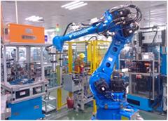 六軸機器人綁線整形上下料系統