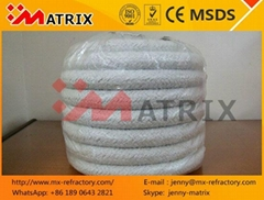 Thermal Ceramics Rope Fiber No asbestos Rope with SS wire or FG wire china made