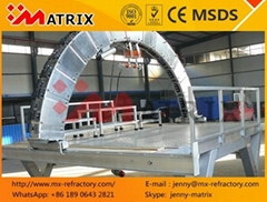 Cement Arch Machine Installation of Refractories Made in China