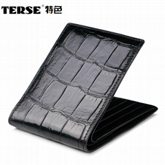 Custom Handbag manufacturer crocodile leather vertical horizontal wallets