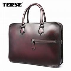 Berluti style briefcase