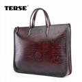 Vintage fashion leather briefcase bags for men business portfolios mens laptop   3