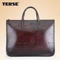 Vintage fashion leather briefcase bags for men business portfolios mens laptop   1