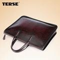 Vintage fashion leather briefcase bags for men business portfolios mens laptop   5