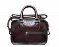 Small women men's leather briefcase bags