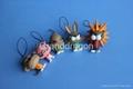 Plastic 3D Cartoon figure Mobile phone straps