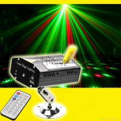 MINI Laser Stage Lighting Projector with MP3 Music Voice Control Remote Control