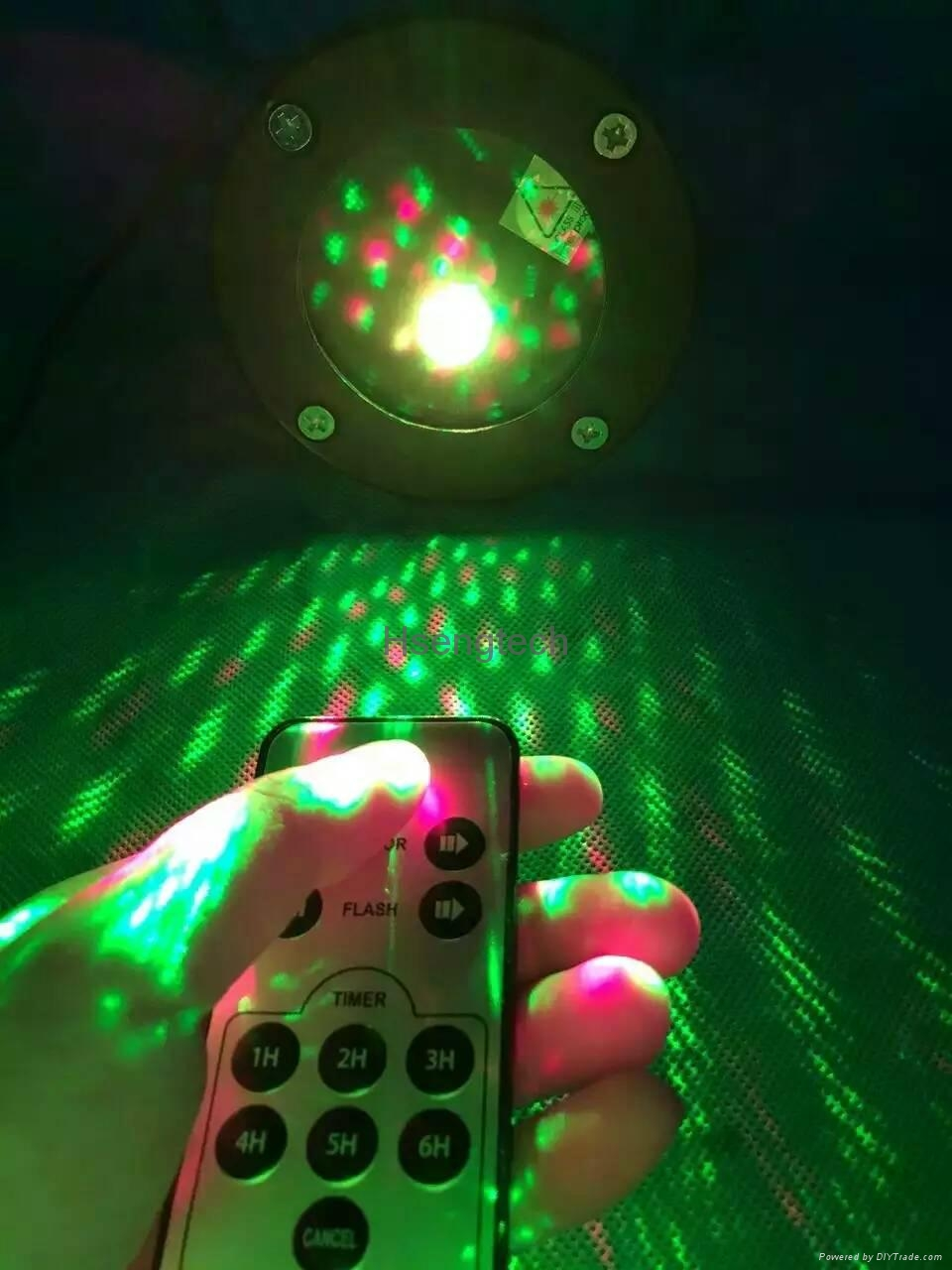 Waterproof Laser Stage Lights Red Green Projector Garden Lawn Lamps Outdoor 3