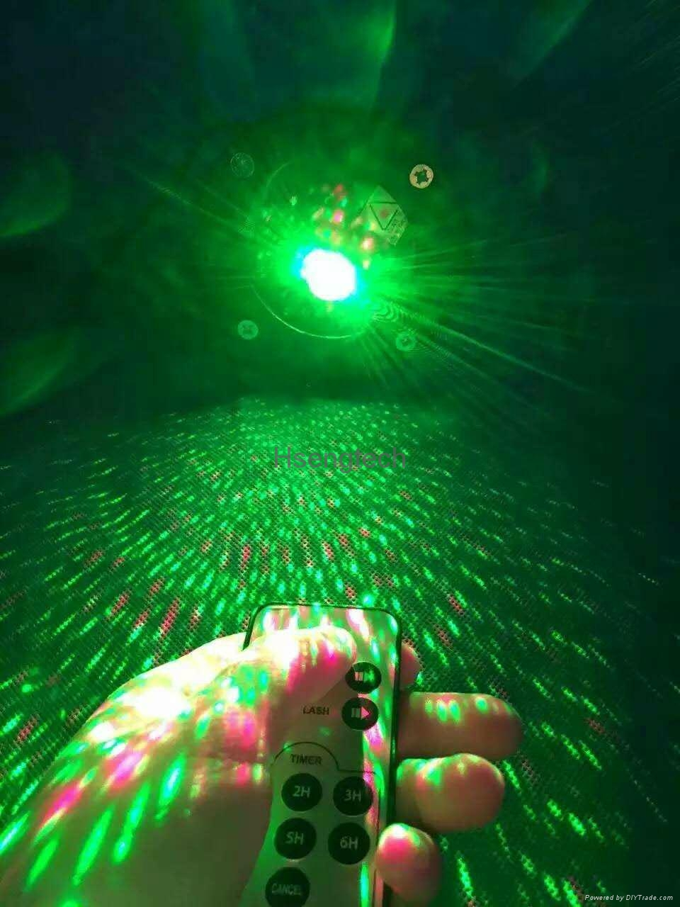 Waterproof Laser Stage Lights Red Green Projector Garden Lawn Lamps Outdoor 5