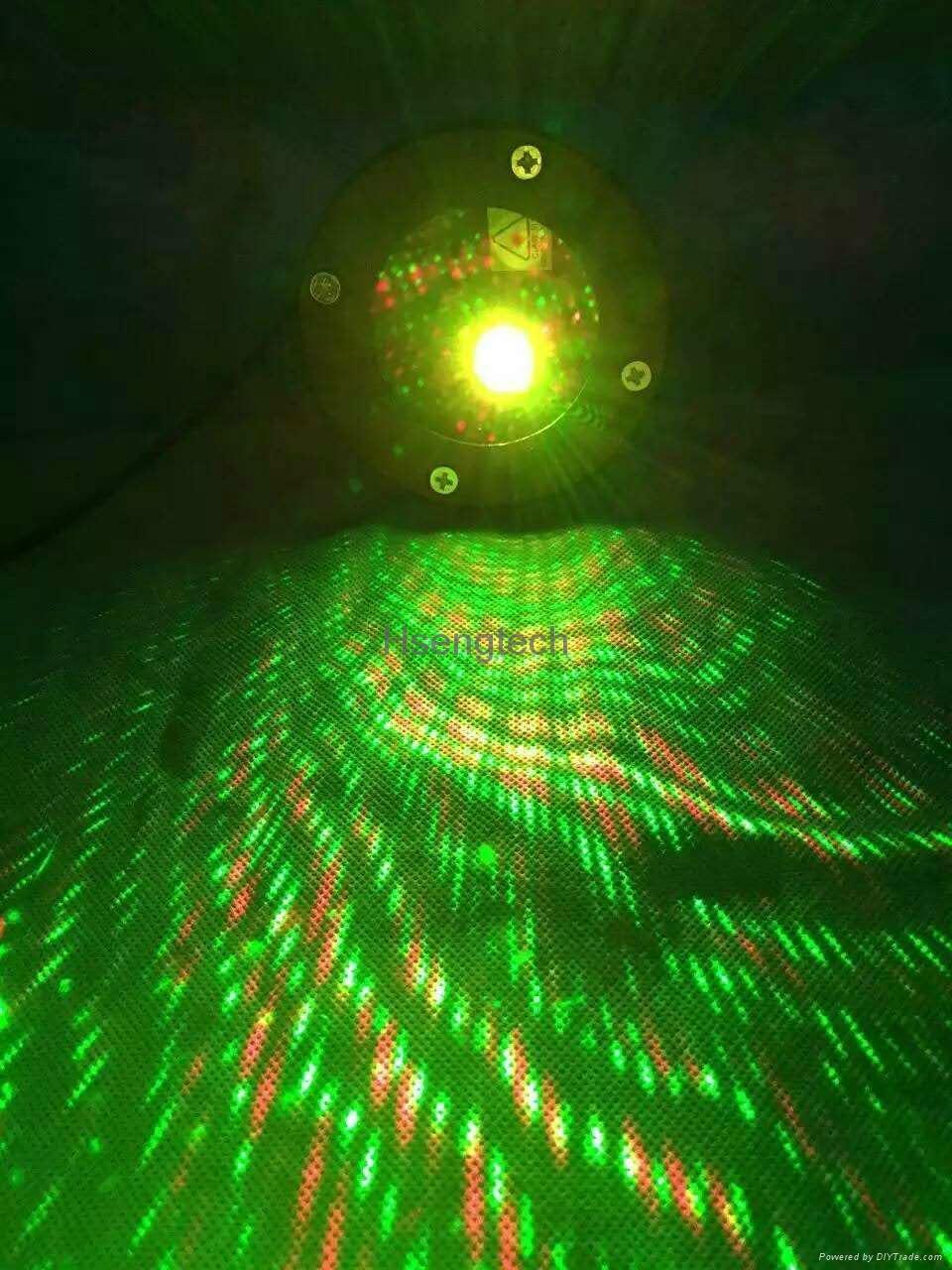 Waterproof Laser Stage Lights Red Green Projector Garden Lawn Lamps Outdoor 8