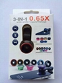 Universal 3 in 1 Clip On Fish Eye Wide