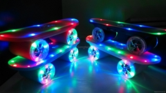 LED Flash Kick Scooter Bluetooth Speaker Wireless Skateboard Slide Plate