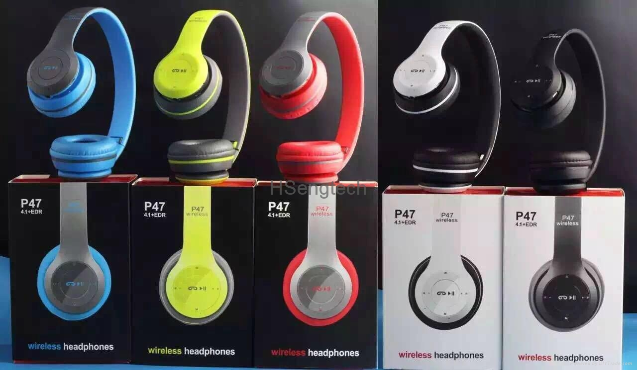 fa27d6a0f6c52b Cheap Wholesale P47 Rechargeable Wireless Headphones Colorful Bluetooth  Headset 1 ...