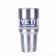 Colorful 20oz 30oz YETI Tumbler Rambler Cups YETI Vacuum Stainless Steel Cup Mug