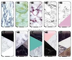 Marble Skin Soft TPU iPhone 6s Plus 4.7'' 5.5'' Mosaic Pattern Back Cover iPhone