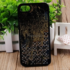 Tetris Bricks Game Dynamic Gold Powder Bling Glitter Quicksand Clear Hard TPU PC