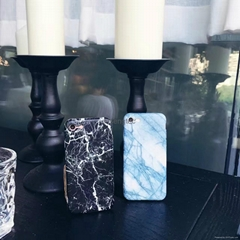 Stylish Marble Design Soft TPU Back Cover Cell Phone Protector Shell for iPhone