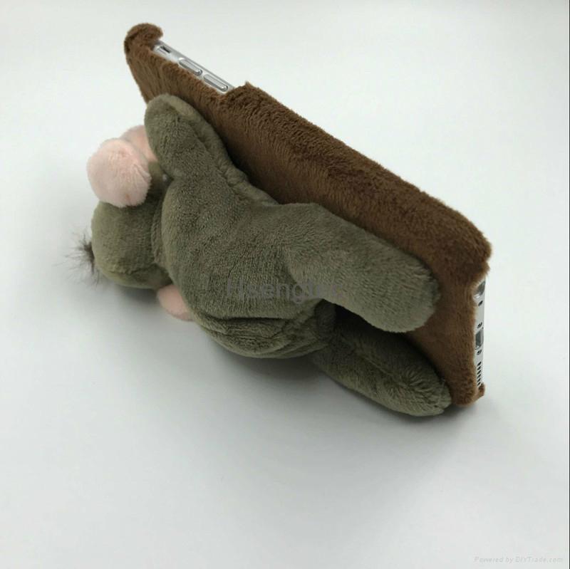 3D Pet Donkey Monkey Sheep Giraffe Back Cover with Kickstand